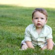 Cute Baby in the Grass — Stock Photo