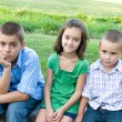 Three Bored Kids - Stock Photo