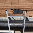 Blown Out Roof Shingles Repair — Stock Photo #9240432
