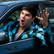 Man Expressing Road Rage — Stock Photo