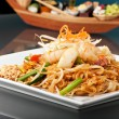 Seafood Pad Thai with Stir Fried Rice Noodles — Stock Photo #9240741