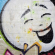 Street Graffiti Happy Face — Stock Photo