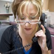 Phone Receptionist — Stock Photo
