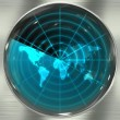 Blue World Radar — Stock Photo