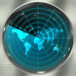 Stock Photo: Blue World Radar