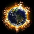 Exploding Earth - Stock Photo