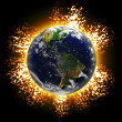 Exploding Earth — Stock Photo
