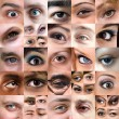 Abstract Variety of Eyes Montage - Stock Photo
