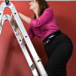 Climbing The Corporate Ladder — Stock Photo