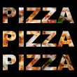 Pizza Word Montage — Stock Photo