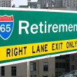 Retirement Highway Sign — Stock Photo