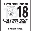 Safety Poster - Foto de Stock