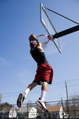 Man Dunking the Basketball — Stock Photo