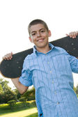 Teenager with His Skateboard — Stock Photo