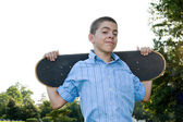 Teen with His Skateboard — Stock Photo