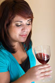 Happy Wine Taster — Stock Photo