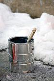 Malba v zimním období — Stock fotografie