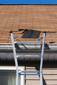 Blown Out Roof Shingles Repair — Stock Photo