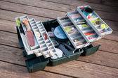 Caixa de equipamento de pesca — Fotografia Stock