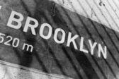 Brooklyn Placard — Stock Photo