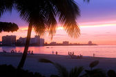 Isla Verde Puerto Rico Sunset — Stock Photo