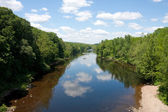 Farmington River Scene — Stock Photo