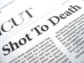 Shot to death — Stock Photo