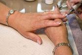 Manicurist Nail Technician — Stock Photo