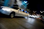 City Limo at Night — Stock Photo