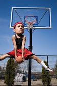 Big Head Basketball Player — Stock Photo