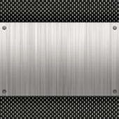 Brushed Aluminum Carbon Fiber — Stock Photo