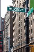 Wedding Love Street Signs — Stock Photo