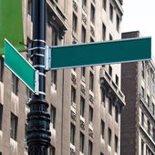 Blank Street Corner Signs — Stock Photo