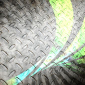 Diamond Plate Abstract Swoosh Background — Stock Photo
