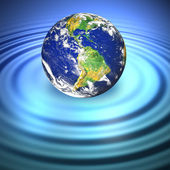 Floating Earth — Stock Photo
