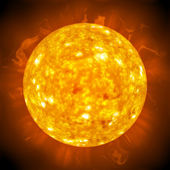 Fiery Glowing Sun — Stock Photo