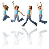 Happy Girl Jumping — Stock Photo