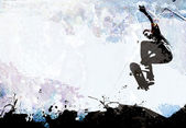 Skateboarding Grunge Layout — Stock Photo