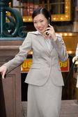 Mujer de negocios de la ciudad — Foto de Stock