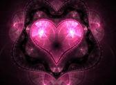 Heart Fractal — Stock Photo
