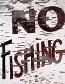 Keine anzeichen von fischen — Stockfoto