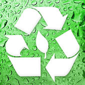 Going Green Recycling — Stock Photo