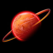 Red space planet — Stock Photo