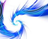 Blue Fractal Plasma Vortex — Stock Photo