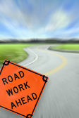Road Work Ahead Concept — Stock Photo