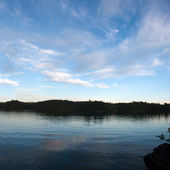 Lower Saranac Lake Panorama — Stock Photo