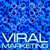 Viral Marketing Diagram — Stock Photo