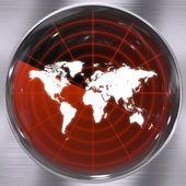 World Radar Screen — Stock Photo