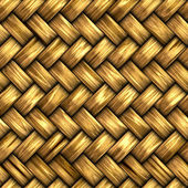 Wicker Woven Basket Texture — Stock Photo