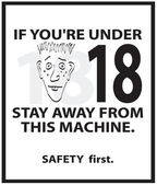 Safety Poster — Stock Photo